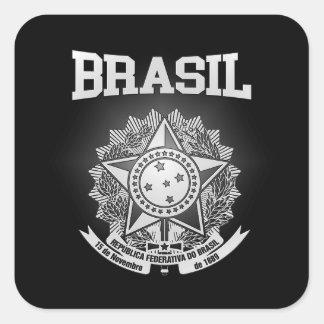 Escudo de armas del Brasil Pegatina Cuadrada