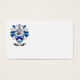 Escudo de armas del caminante tarjeta de negocios