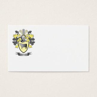 Escudo de armas del col tarjeta de negocios