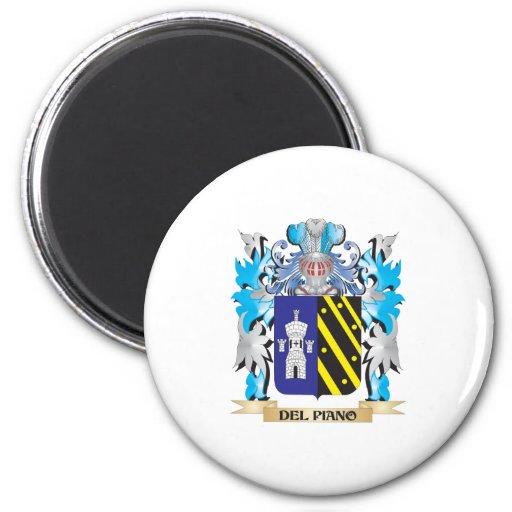 Escudo de armas del Del-Piano - escudo de la famil Imán Para Frigorífico