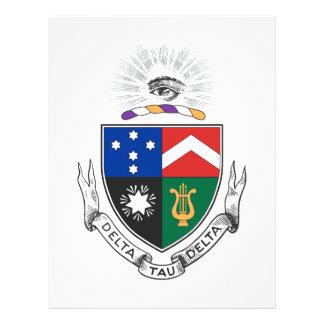 Escudo de armas del delta del Tau del delta Folleto 21,6 X 28 Cm
