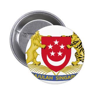 Escudo de armas del emblema del 新加坡国徽 de Singapur Chapa Redonda De 5 Cm