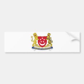 Escudo de armas del emblema del 新加坡国徽 de Singapur Pegatina Para Coche