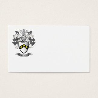 Escudo de armas del escudo de la familia de Ayers Tarjeta De Negocios