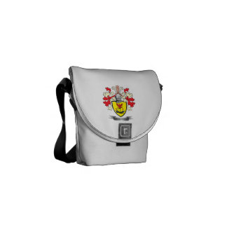 Escudo de armas del escudo de la familia de bolsas de mensajería