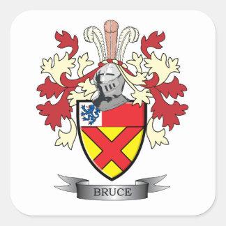 Escudo de armas del escudo de la familia de Bruce Pegatina Cuadrada