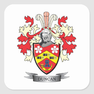 Escudo de armas del escudo de la familia de Duncan Pegatina Cuadrada