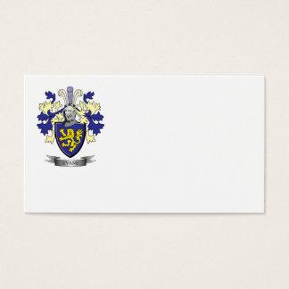 Escudo de armas del escudo de la familia de Evans Tarjeta De Negocios