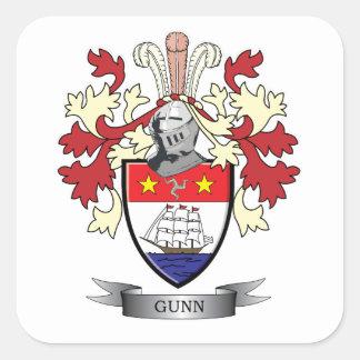 Escudo de armas del escudo de la familia de Gunn Pegatina Cuadrada