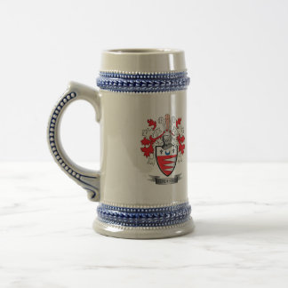 Escudo de armas del escudo de la familia de jarra de cerveza