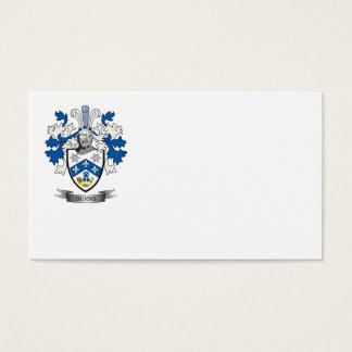 Escudo de armas del escudo de la familia de las tarjeta de negocios