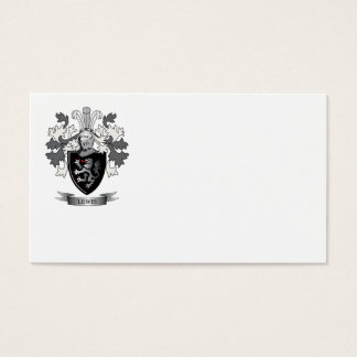 Escudo de armas del escudo de la familia de Lewis Tarjeta De Negocios