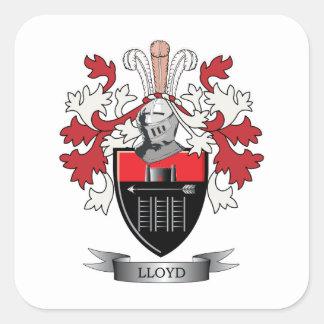 Escudo de armas del escudo de la familia de Lloyd Pegatina Cuadrada