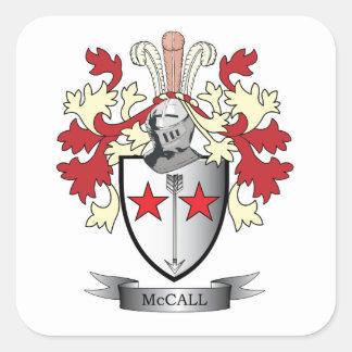 Escudo de armas del escudo de la familia de McCall Pegatina Cuadrada