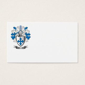 Escudo de armas del escudo de la familia de Miller Tarjeta De Negocios