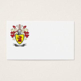 Escudo de armas del escudo de la familia de Monroe Tarjeta De Negocios