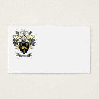 Escudo de armas del escudo de la familia de Morris Tarjeta De Negocios