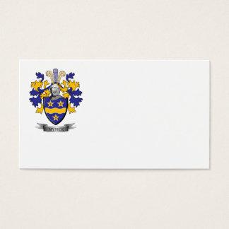 Escudo de armas del escudo de la familia de Myrick Tarjeta De Negocios