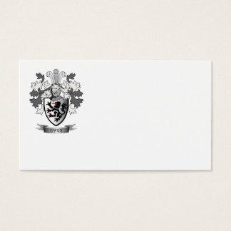Escudo de armas del escudo de la familia de Owen Tarjeta De Negocios