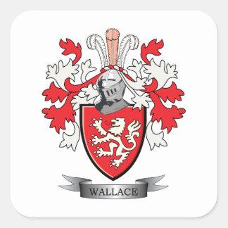 Escudo de armas del escudo de la familia de pegatina cuadrada