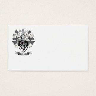 Escudo de armas del escudo de la familia de Powell Tarjeta De Negocios