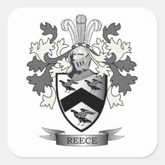 Escudo de armas del escudo de la familia de Reece Pegatina Cuadrada