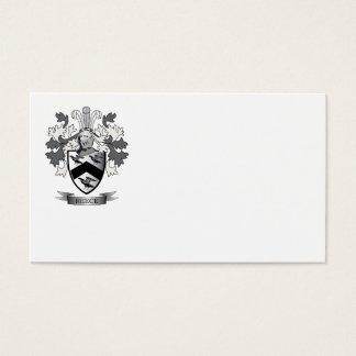 Escudo de armas del escudo de la familia de Reece Tarjeta De Negocios