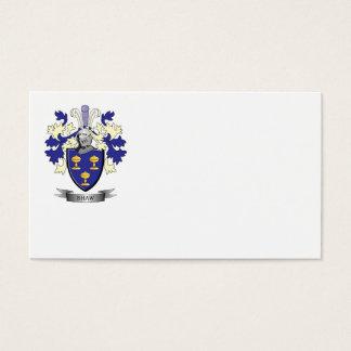Escudo de armas del escudo de la familia de Shaw Tarjeta De Negocios
