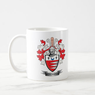 Escudo de armas del escudo de la familia de taza de café