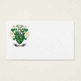 Escudo de armas del escudo de la familia del rayo tarjeta de negocios