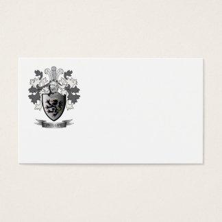 Escudo de armas del escudo de la familia Phillips Tarjeta De Negocios