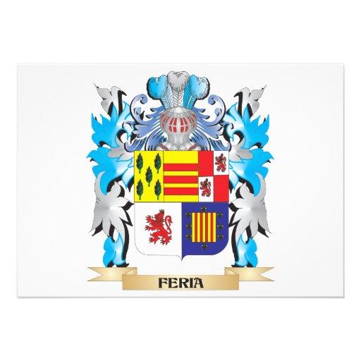 Escudo de armas del Feria - escudo de la familia Anuncio Personalizado