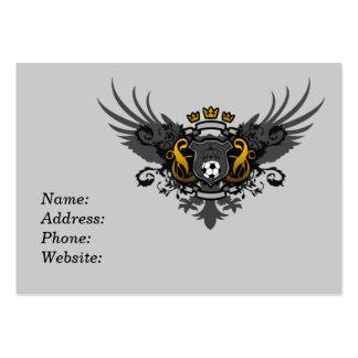 Escudo de armas del fútbol tarjetas de visita grandes