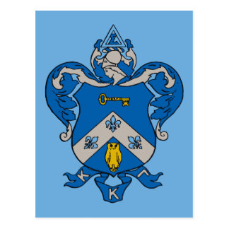 Escudo de armas del Gama de Kappa Kappa Tarjetas Postales