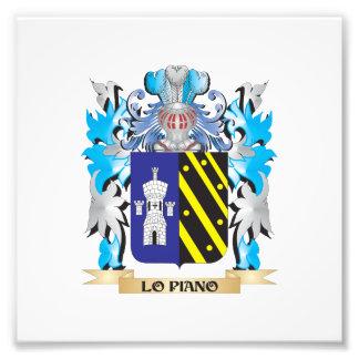Escudo de armas del Lo-Piano - escudo de la Impresión Fotográfica