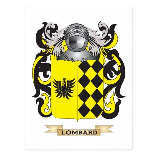 Escudo de armas del lombardo (escudo de la postal