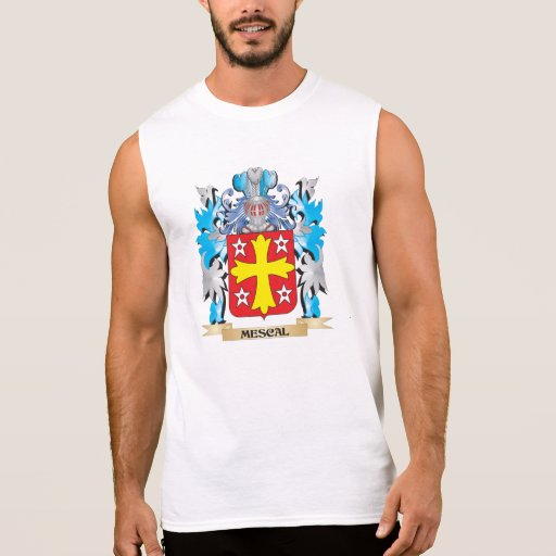 Escudo de armas del mezcal - escudo de la familia camisetas sin mangas