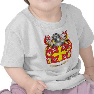 Escudo de armas del mezcal escudo de la familia camiseta
