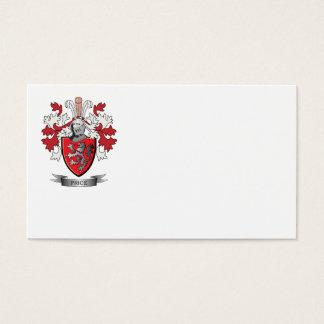 Escudo de armas del precio tarjeta de negocios