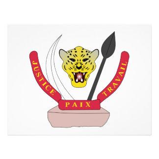 Escudo de armas del República del Congo Tarjetas Publicitarias
