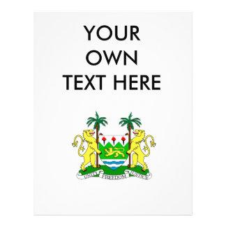 Escudo de armas del Sierra Leone Tarjeta Publicitaria