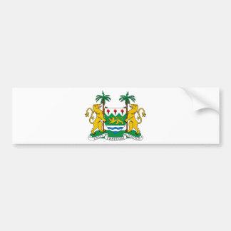 Escudo de armas del Sierra Leone Pegatina Para Coche