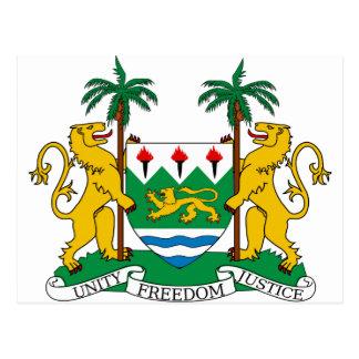 Escudo de armas del Sierra Leone Postal