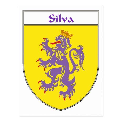Escudo de armas del Silva/escudo de la familia Tarjetas Postales