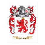 Escudo de armas del Silva (escudo de la familia) Tarjeta Postal