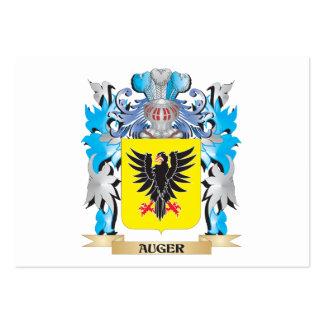 Escudo de armas del taladro tarjeta de visita