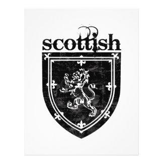 escudo de armas escocés tarjeton