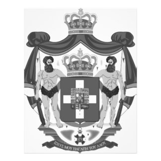 Escudo de armas griego tarjeta publicitaria