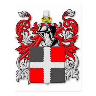 Escudo de armas grosero postales