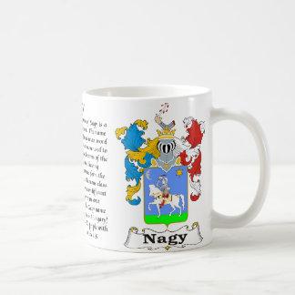 Escudo de armas húngaro de la familia de Nagy una Taza De Café